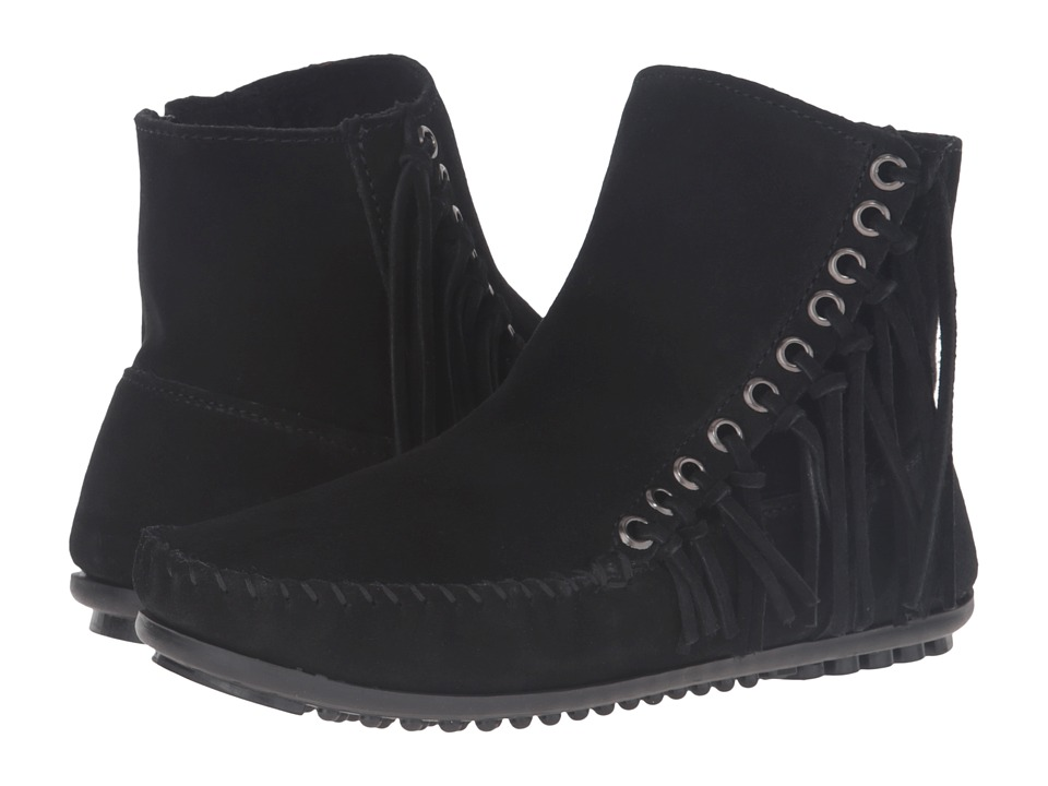 Minnetonka - Willow Boot (Black Suede) Womens Pull-on Boots