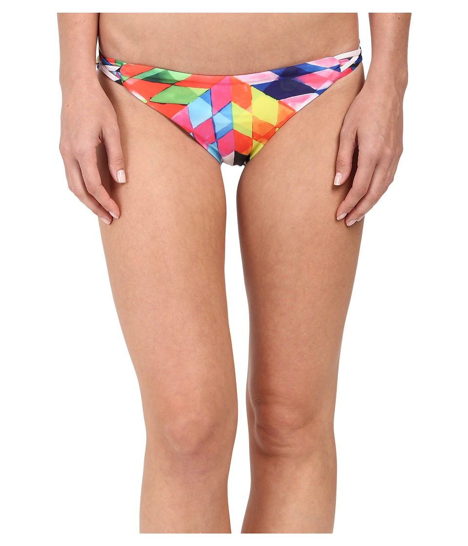 Mara Hoffman Basketweave Bottom Fractals Red Womens Swimwear