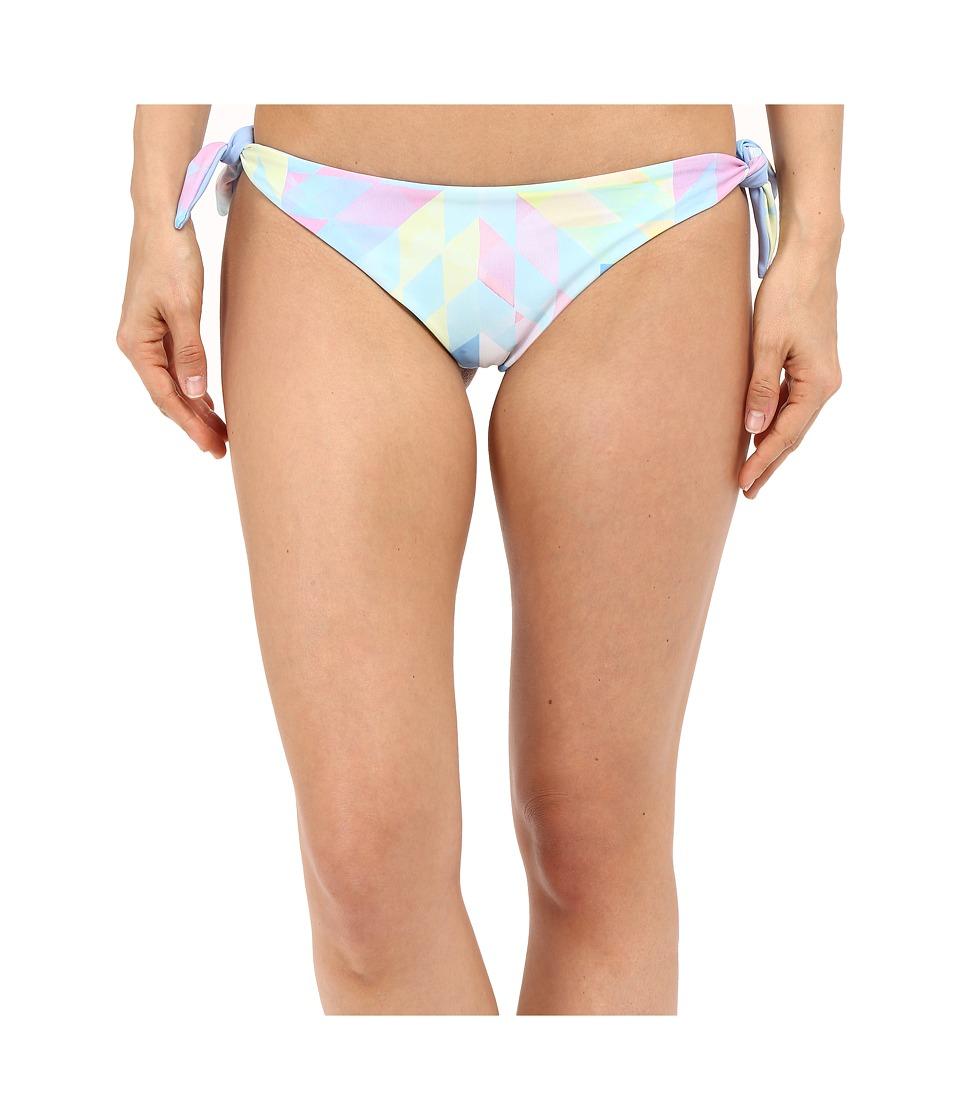 Mara Hoffman Brazilian Bottom Fractals Turquoise Womens Swimwear