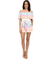 Mara Hoffman - Crinkle Crepe Off The Shoulder Romper