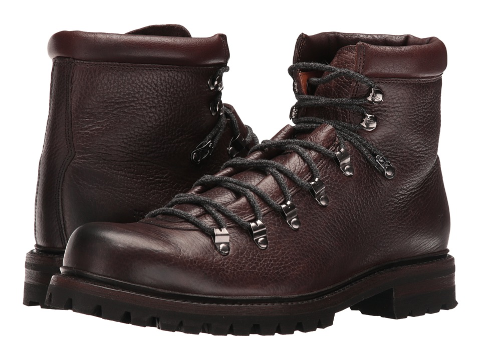 Frye Wyoming Hiker (Dark Brown WP Waxed Pebbled Leather/Soft Vintage Leather) Men
