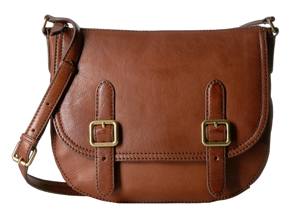Frye - Claude Crossbody (Whiskey Tumbled Full Grain) Handbags