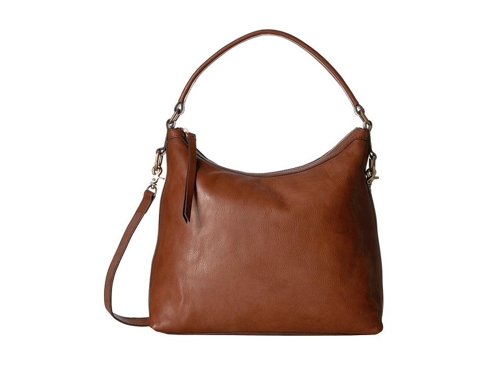 Frye - Claude Hobo (Whiskey Tumbled Full Grain) Hobo Handbags
