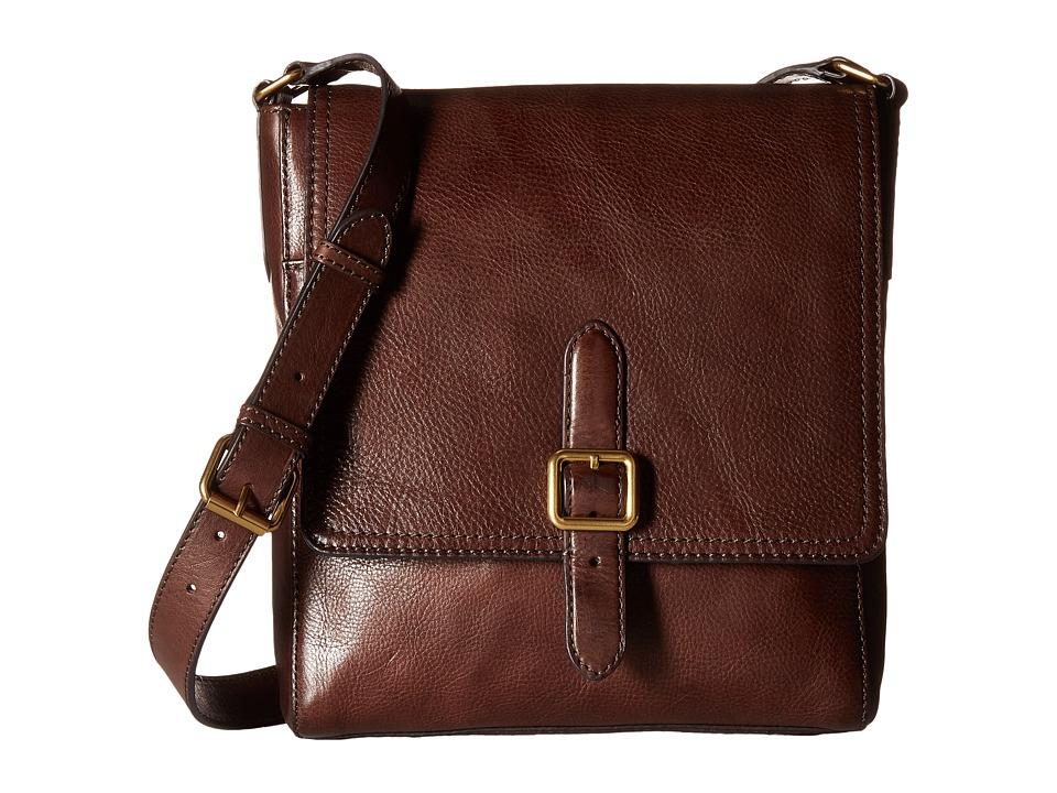 Frye - Claude Messenger (Chocolate Tumbled Full Grain) Messenger Bags