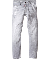 Dsquared2 Kids - Light Grey Wash Twist Kenny Jeans (Big Kids)