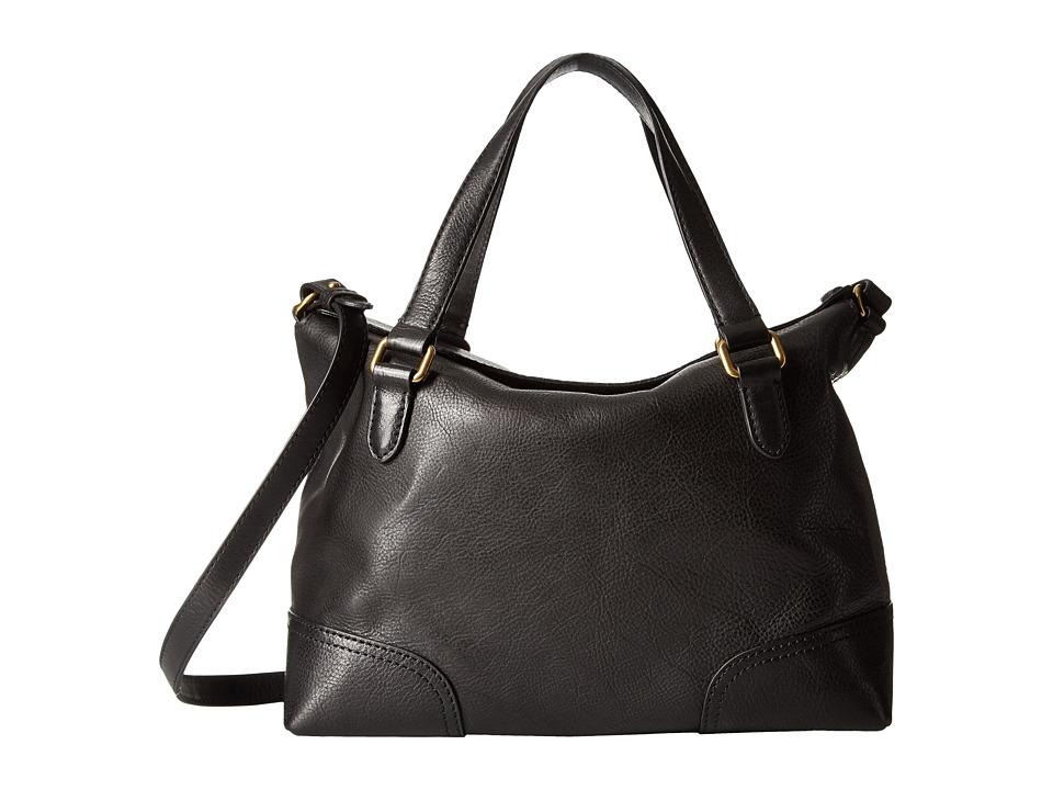 Frye - Claude Satchel (Black Tumbled Full Grain) Satchel Handbags
