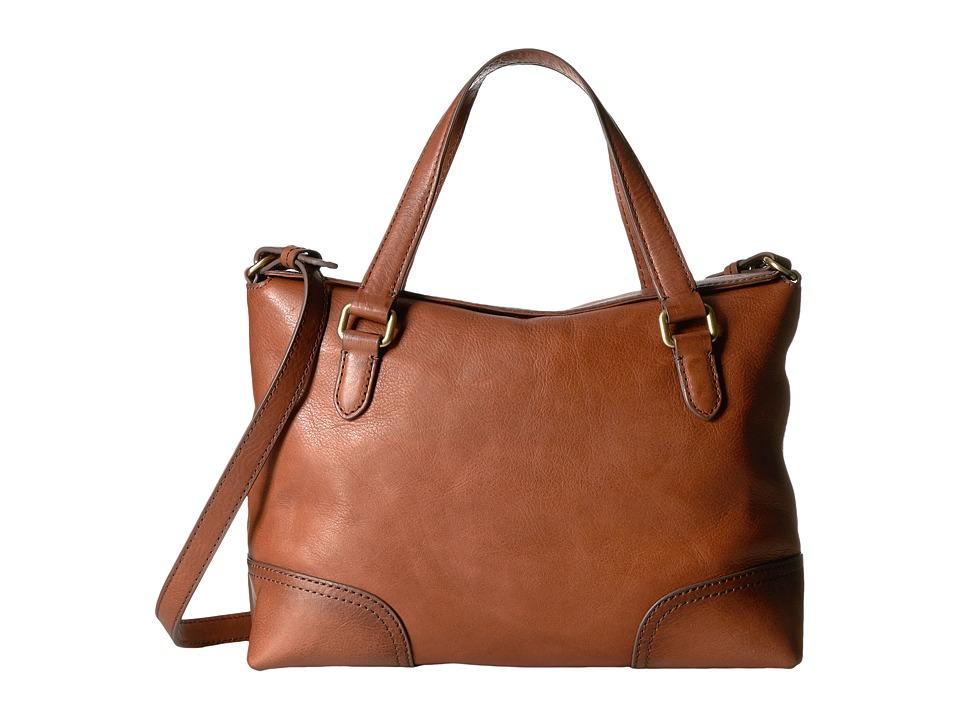 Frye - Claude Satchel (Whiskey Tumbled Full Grain) Satchel Handbags