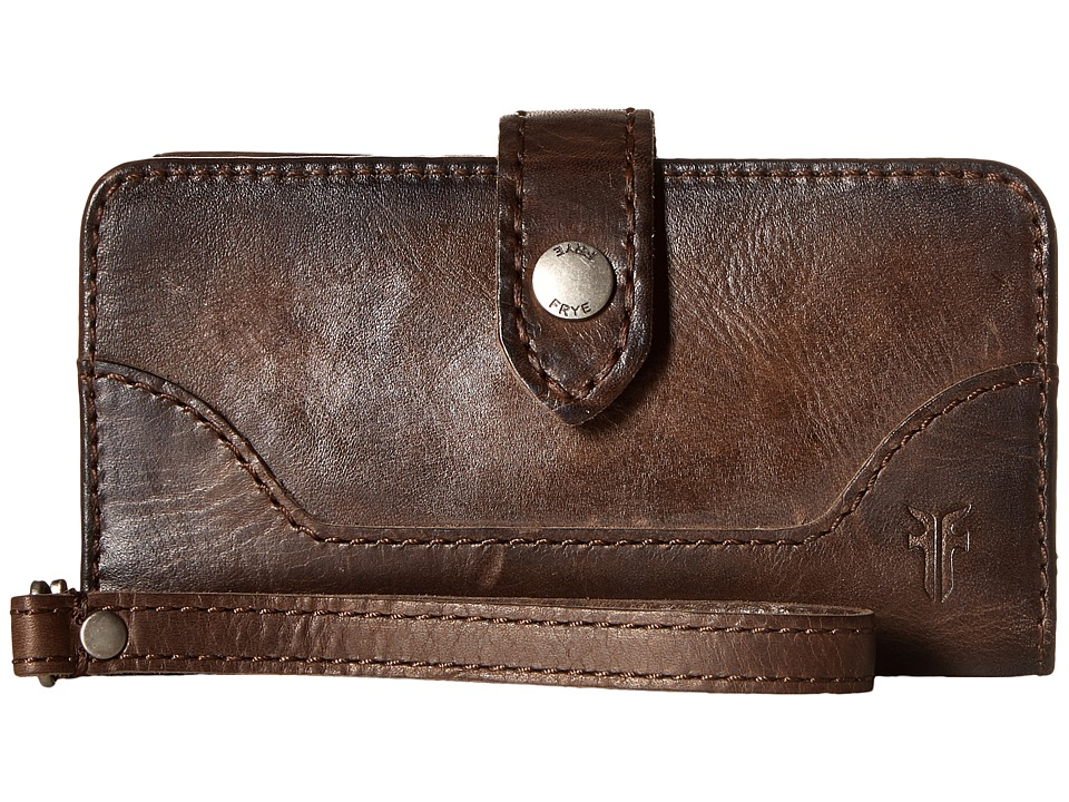Frye Melissa Phone Wallet (Slate Antique Pull Up) Bill-fo...