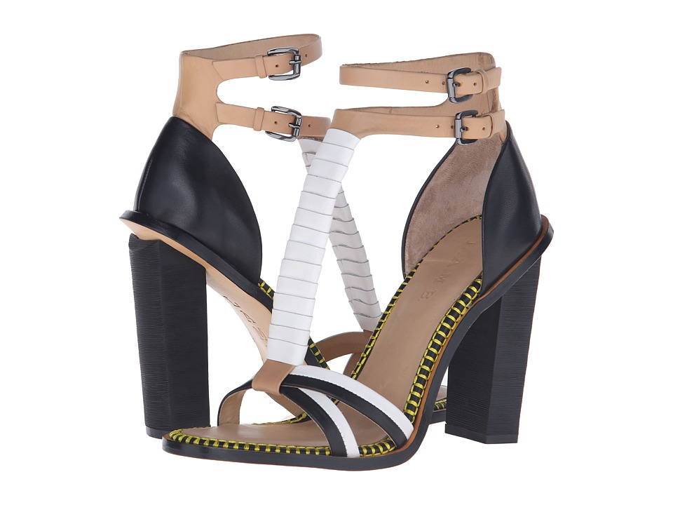 L.A.M.B. Oracle Natural/White High Heels