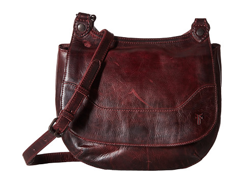 Frye Melissa Saddle - Wine Antique Pull Up