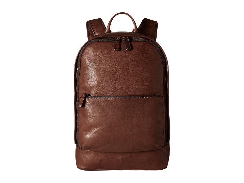 Frye - Chris Backpack (Chocolate Tumbled Full Grain) Backpack Bags