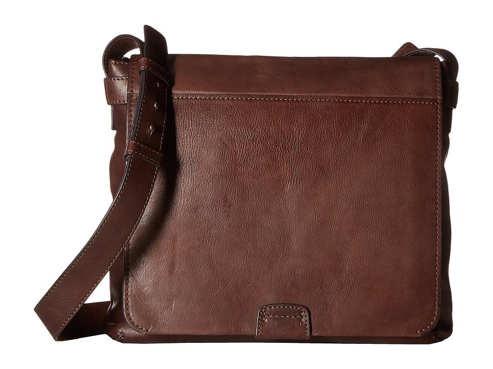 Frye - Chris Messenger (Chocolate Tumbled Full Grain) Messenger Bags