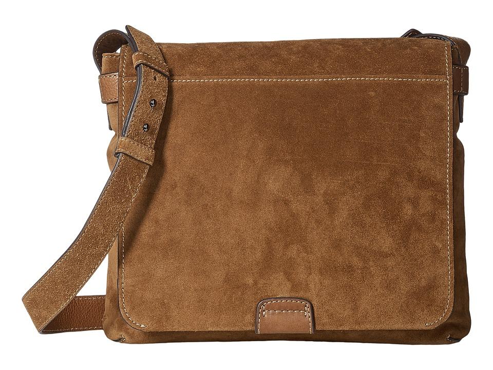 Frye - Chris Messenger (Sand Soft Suede) Messenger Bags