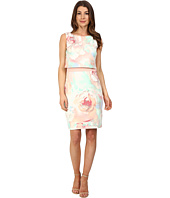 Sangria - Floral Pop Over Scuba Sheath