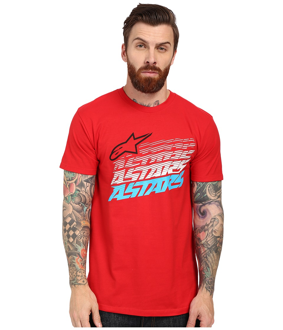Alpinestars Hashed Tee Red Mens T Shirt