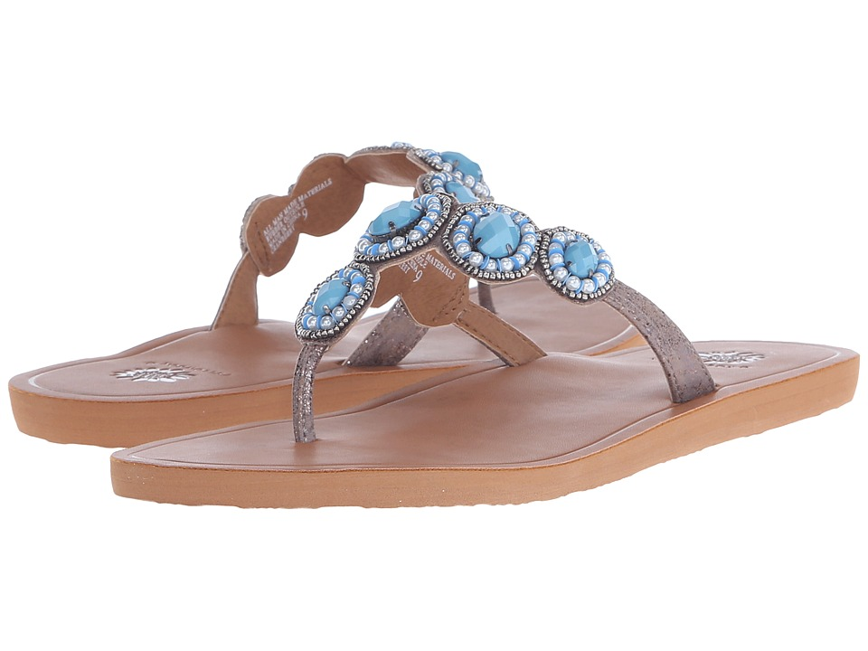 Yellow Box Cranberry Turquoise Womens Sandals