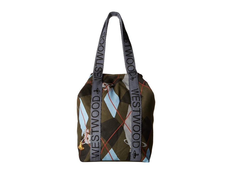 Vivienne Westwood - Africa Harlequin Runner Holdall (Green Argyle) Tote Handbags