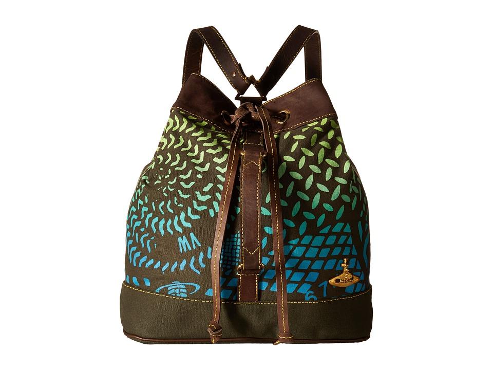 Vivienne Westwood - Africa Manhole Duffel Rucksack (Green Manhole) Duffel Bags