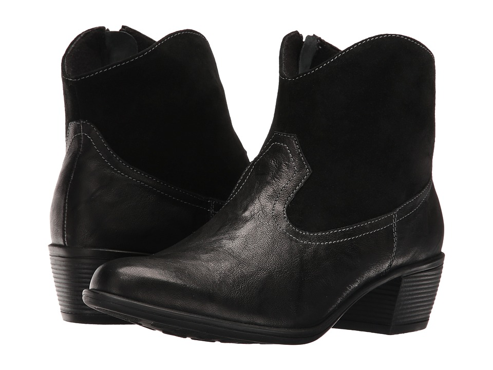 Munro Laramie (Black Leather/Suede) Cowboy Boots