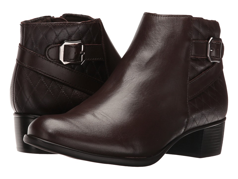 Munro Jolynn (Brown Leather/Quilted Detail) Women