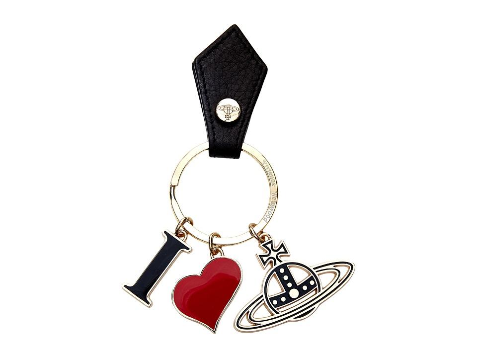 Vivienne Westwood - I Love Orb Gadget Key Ring (Black) Wallet