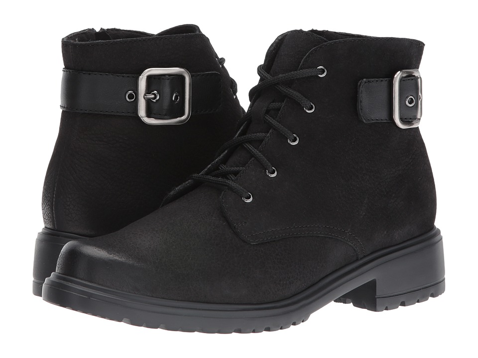MUNRO Bradley (Black Tumbled Nubuck) Women's Lace-up Boots