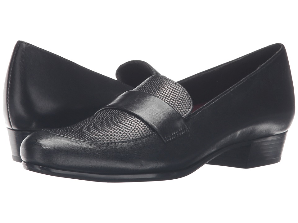 Munro Kiera (Black Leather/Lizard) Women