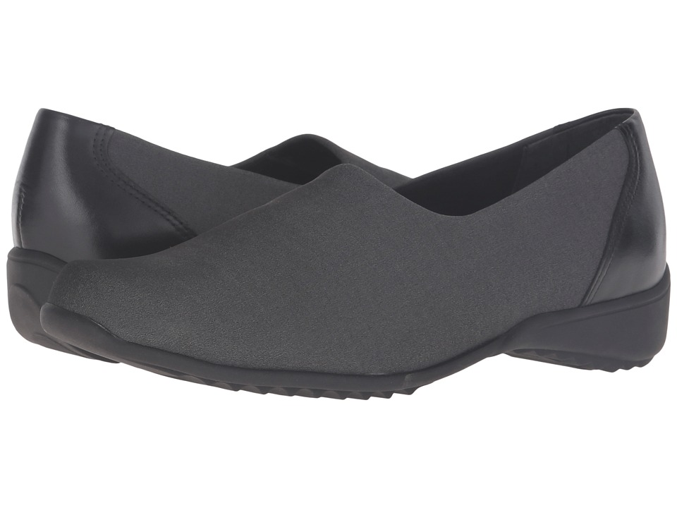 Munro - Traveler (Grey Fabric) Womens Slip on  Shoes