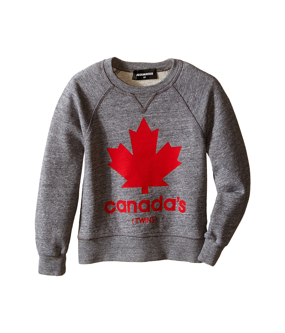 Dsquared2 Kids Maple Leaf Sweatshirt Little Kids/Big Kids Grey Boys Sweatshirt