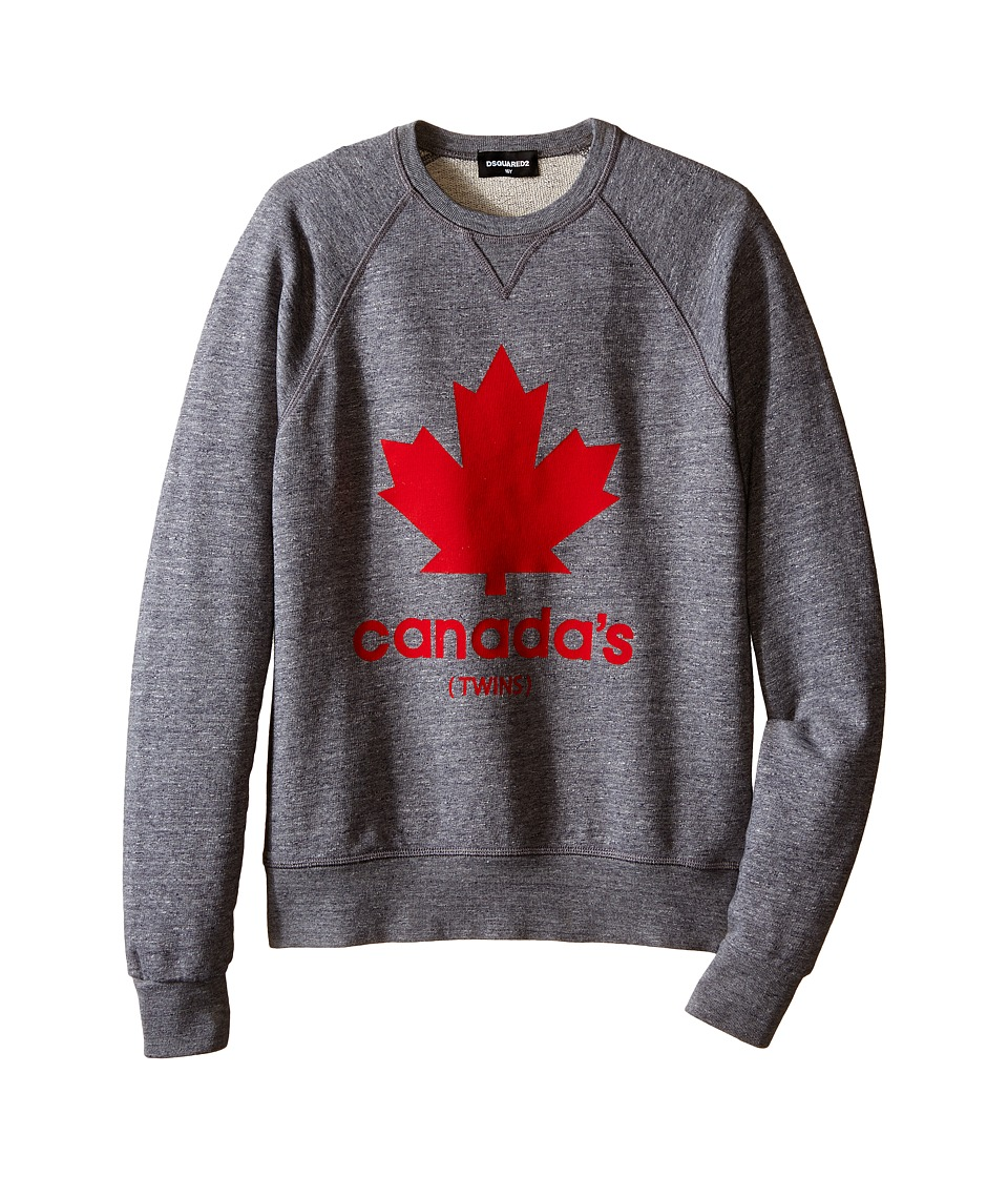 Dsquared2 Kids Maple Leaf Sweatshirt Big Kids Grey Boys Sweatshirt