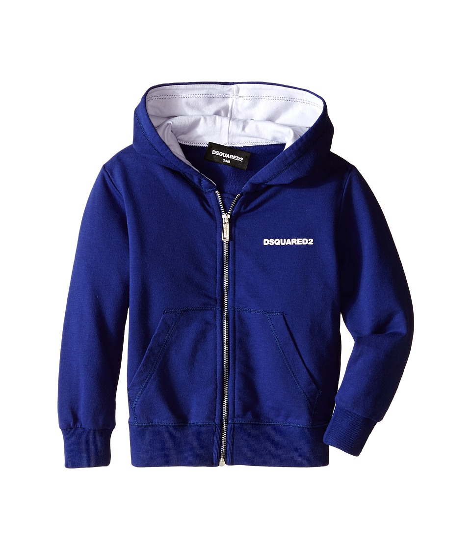 Dsquared2 Kids Hoodie Sweater w/ Zipper Infant Blue Boys Sweatshirt