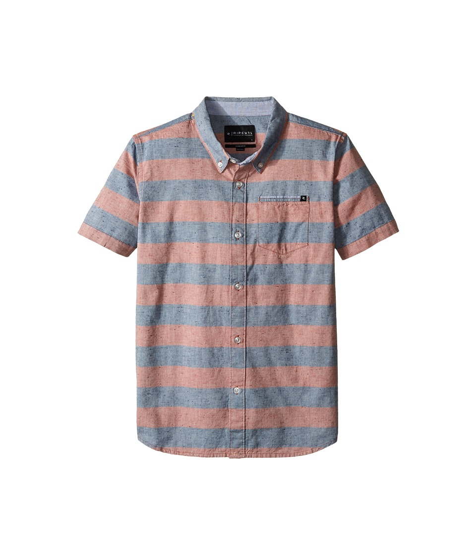 Rip Curl Kids El Tule Short Sleeve Shirt Big Kids Red Boys Short Sleeve Button Up