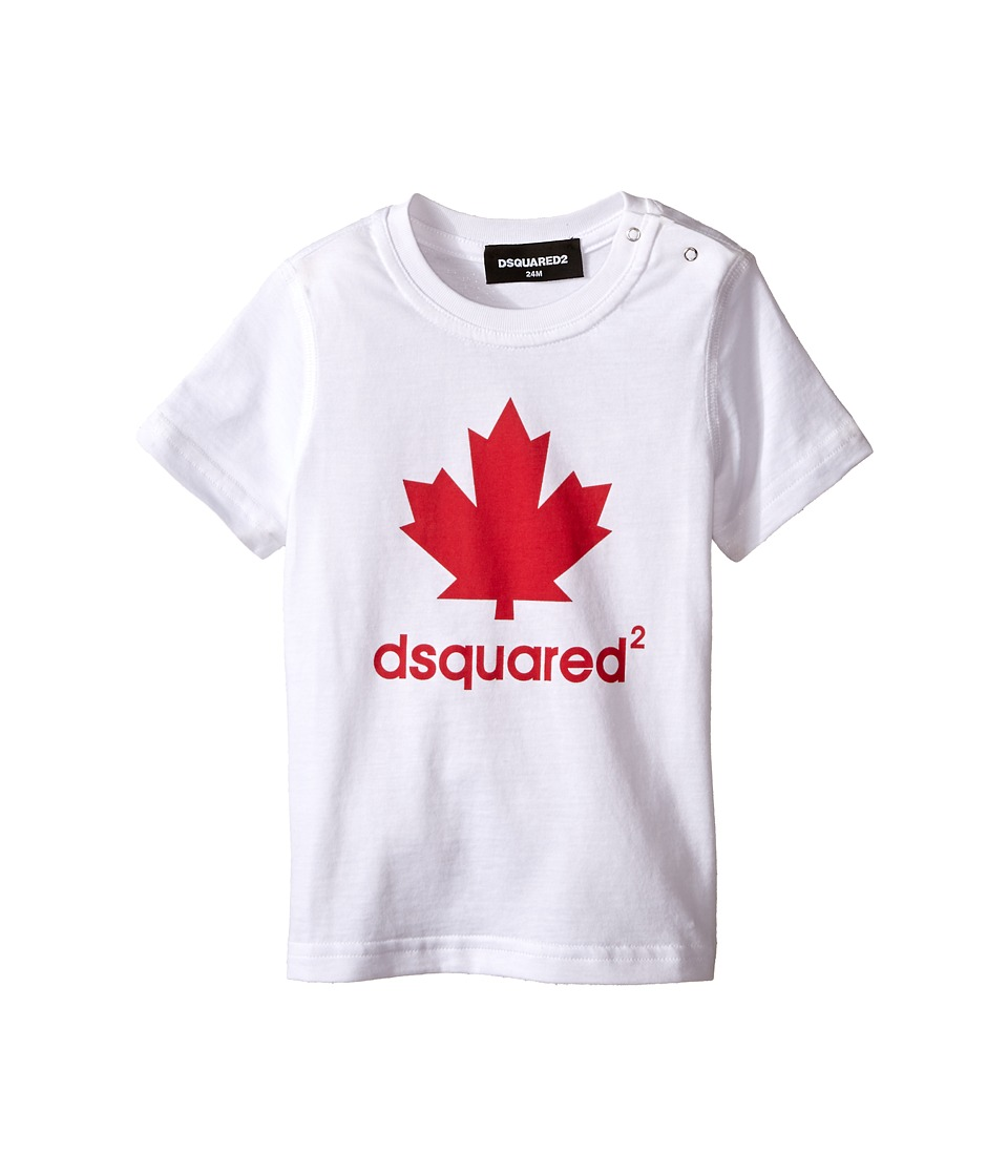 Dsquared2 Kids T Shirt w/ Canadas Maple Leaf Infant White Boys T Shirt