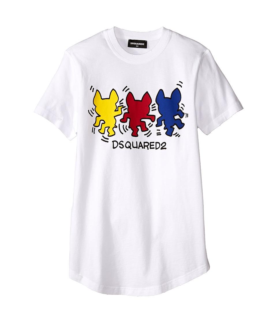 Dsquared2 Kids - T-Shirt w/ Graphic (Big Kids) (White) Boy