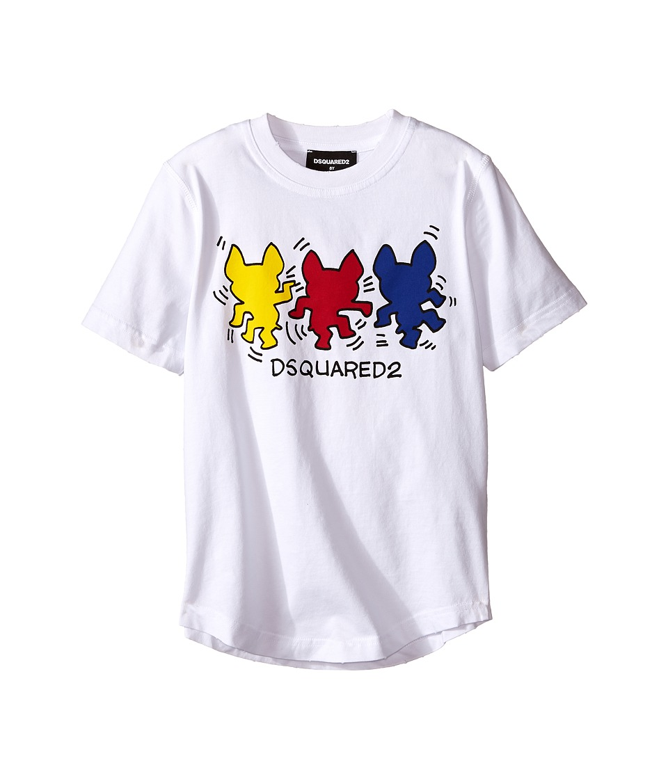 Dsquared2 Kids - T-Shirt w/ Graphic (Little Kids/Big Kids) (White) Boy