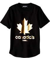 Dsquared2 Kids - Golden Maple Leaf T-Shirt (Little Kids/Big Kids)
