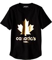 Dsquared2 Kids - Golden Maple Leaf T-Shirt (Little Kids/Big Kids)