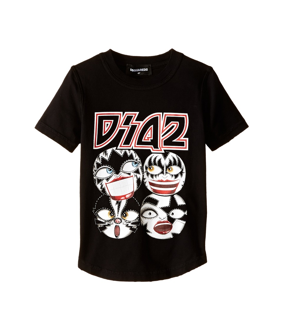 Dsquared2 Kids Graphic Tee Little Kids/Big Kids Black Boys T Shirt