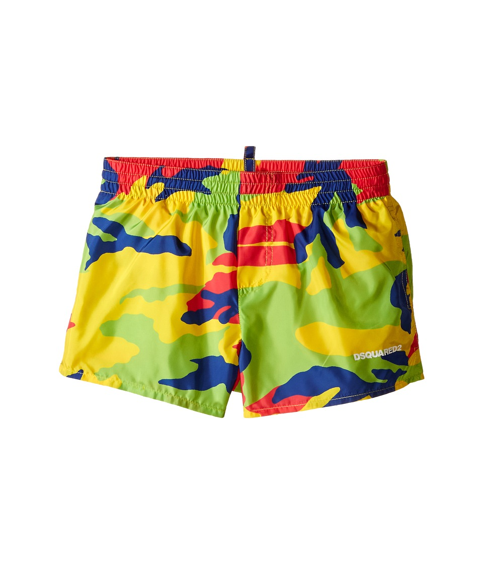 Dsquared2 Kids Camouflage Shorts Little Kids/Big Kids Multi Boys Swimwear