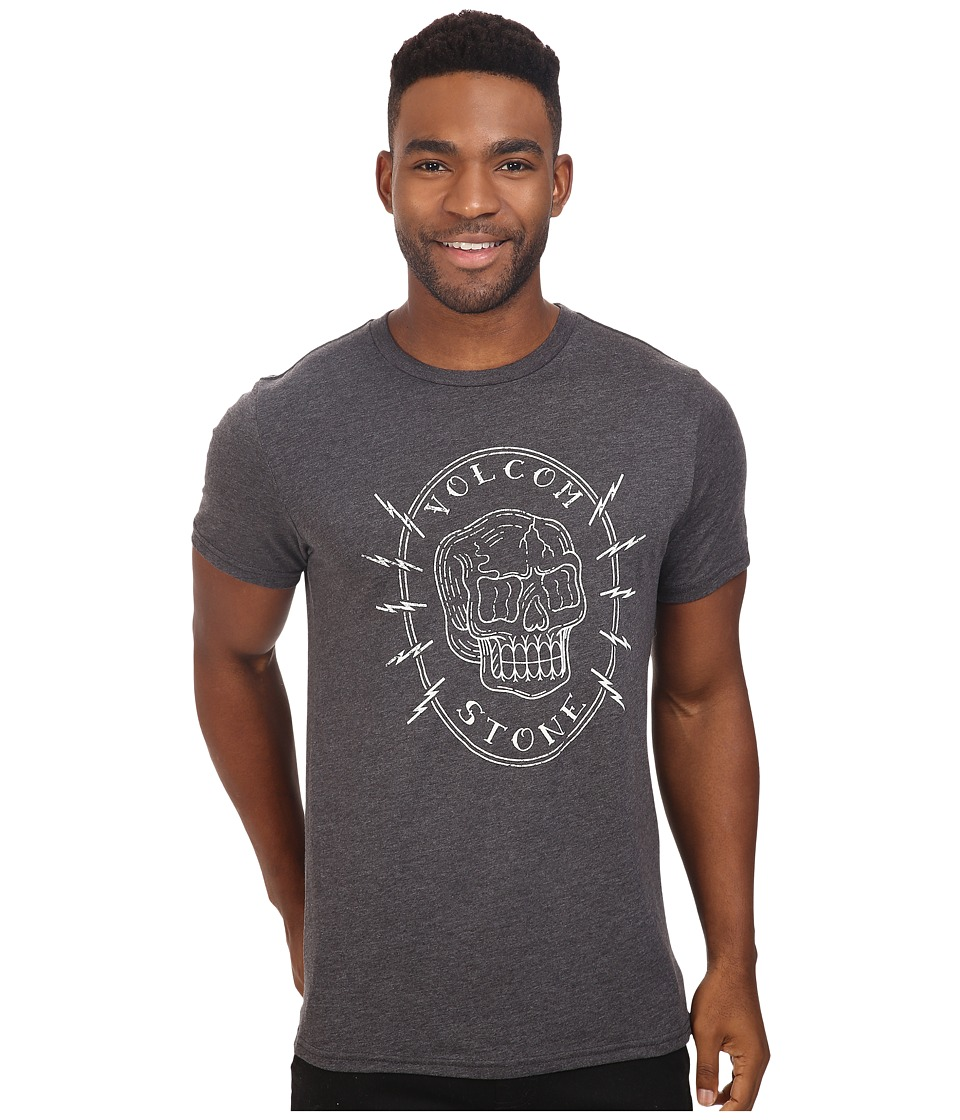 Volcom - Cycle Short Sleeve Tee (Heather Black) Men