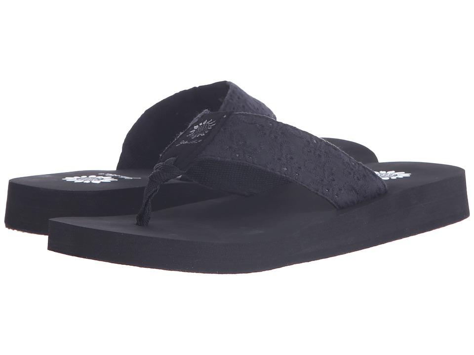 Yellow Box Root Black Womens Sandals