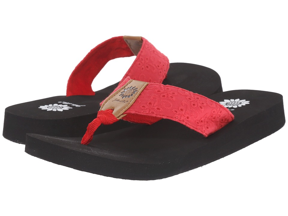 Yellow Box Root Red Womens Sandals