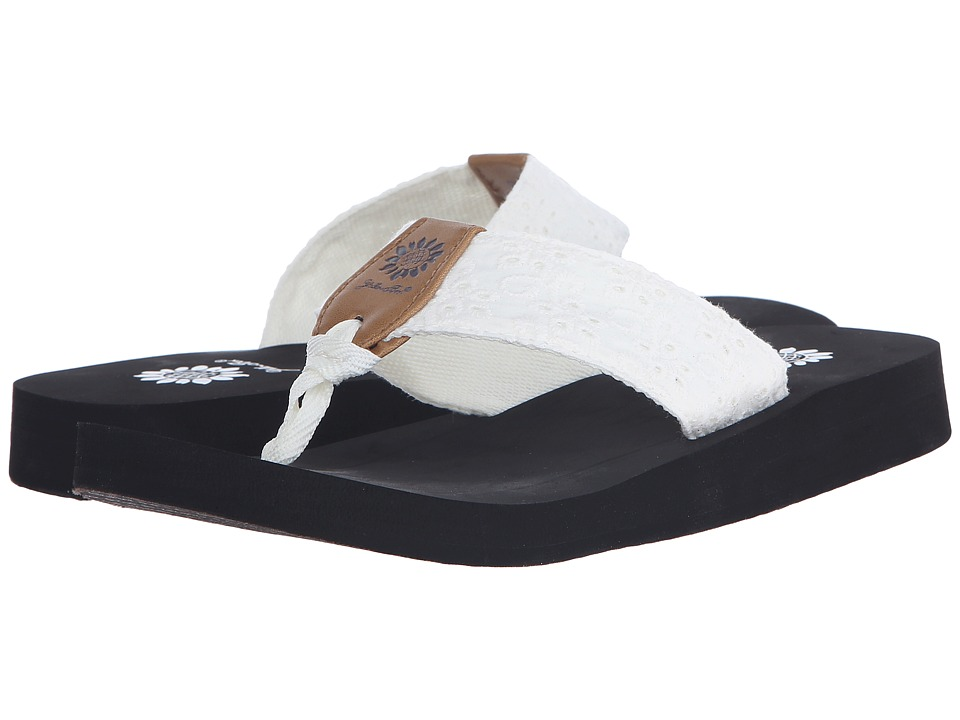 Yellow Box Root White/Black Womens Sandals
