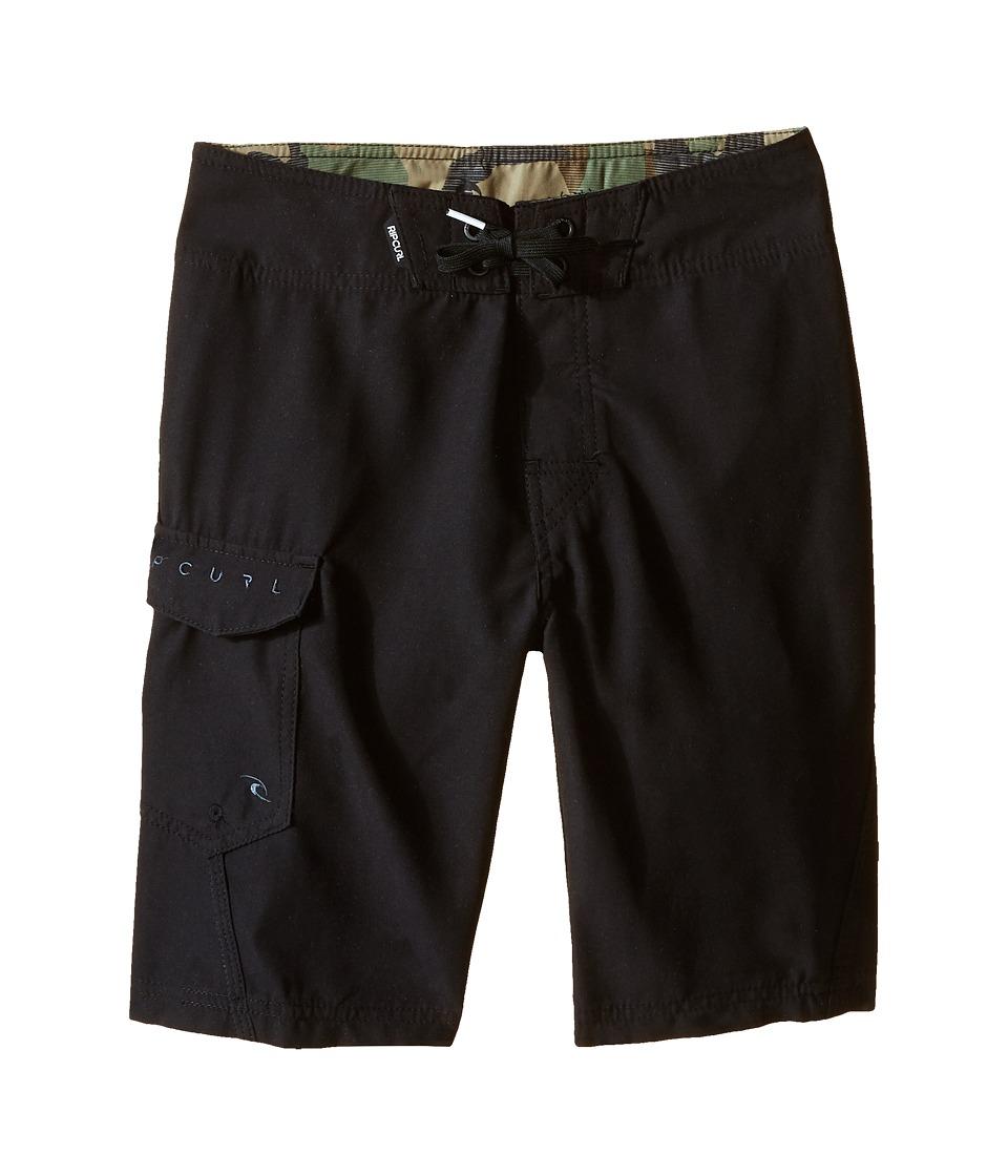 Rip Curl Kids Dawn Patrol Boardshorts Big Kids Black Boys Swimwear