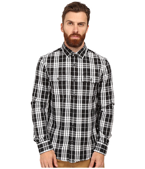 Original Penguin Long Sleeve Slub Double Cloth Plaid
