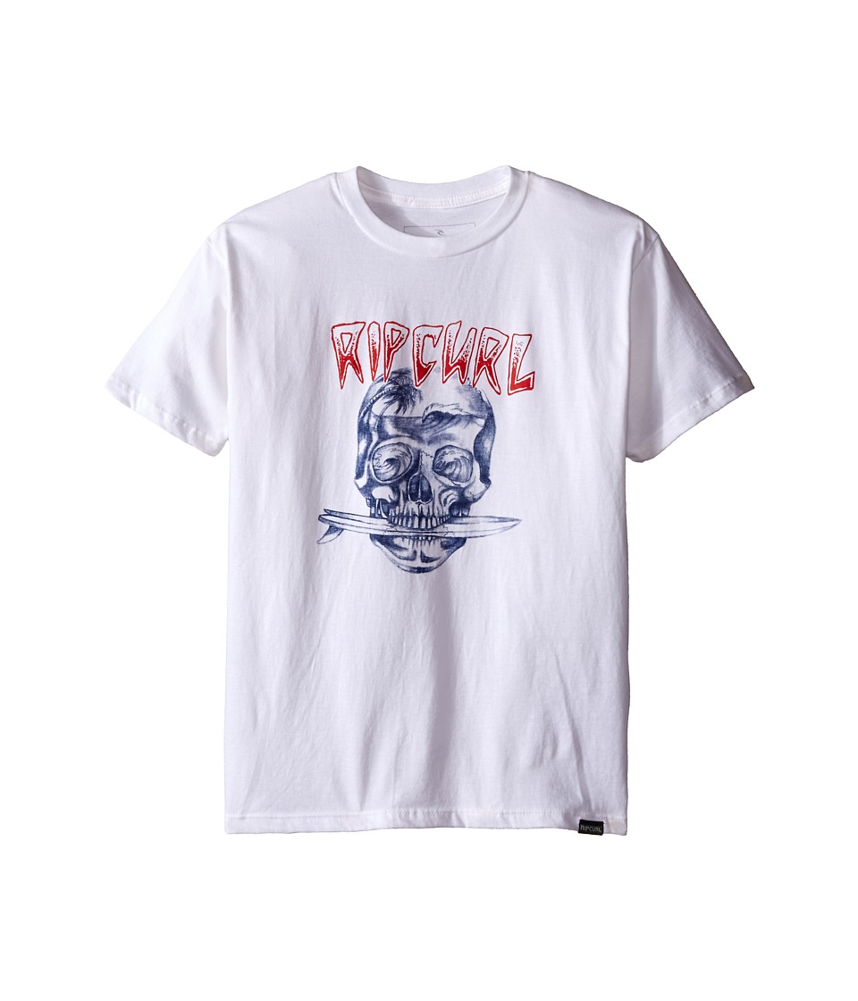 Rip Curl Kids El Skullio Premium Tee Big Kids White Boys T Shirt