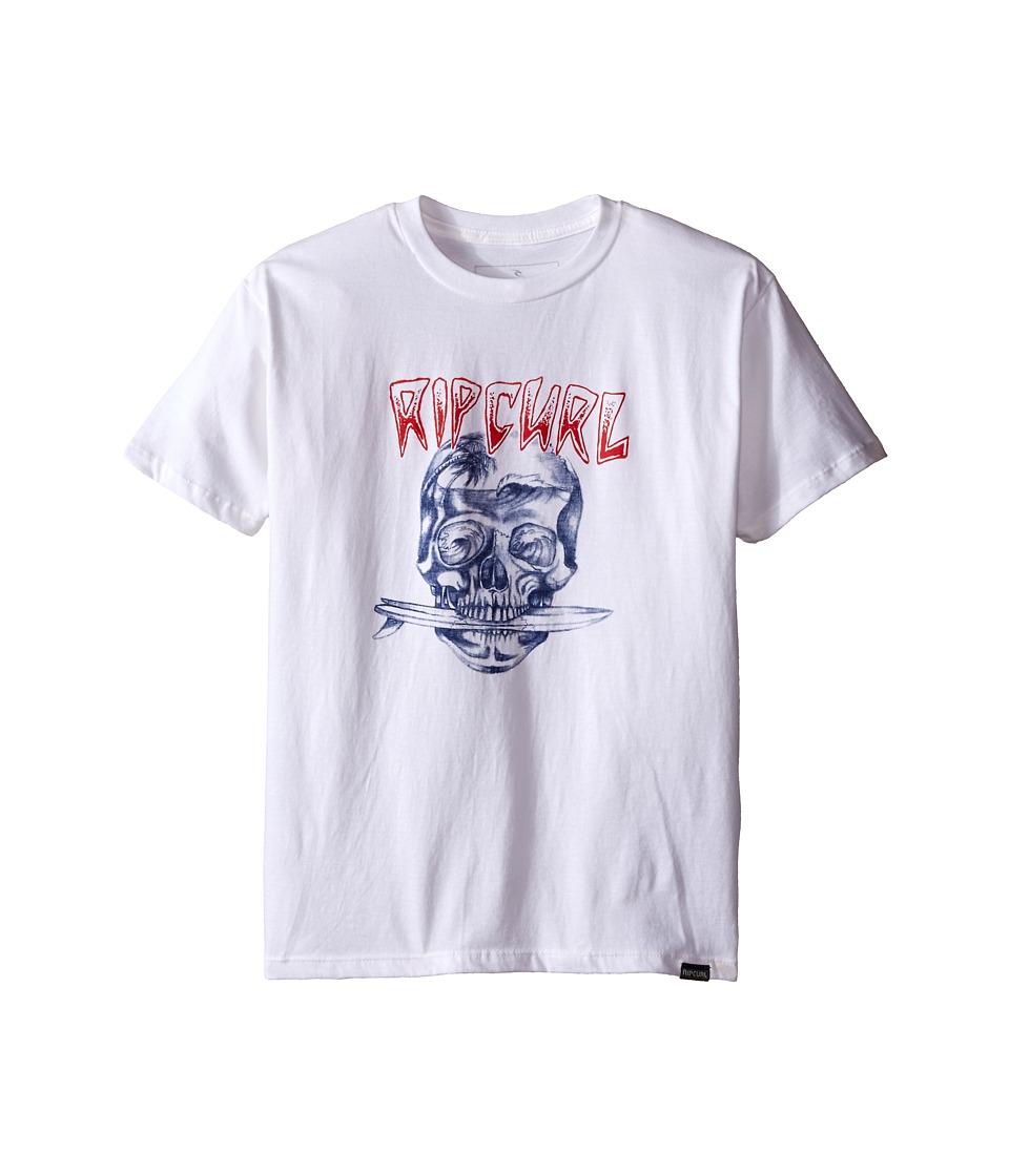 Rip Curl Kids El Skullio Premium Tee Big Kids White Boys T Shirt
