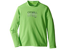 Image of O'Neill Kids - Skins L/S Rash Tee (Infant/Toddler/Little Kids) (Day Glow Green) Boy's Swimwear