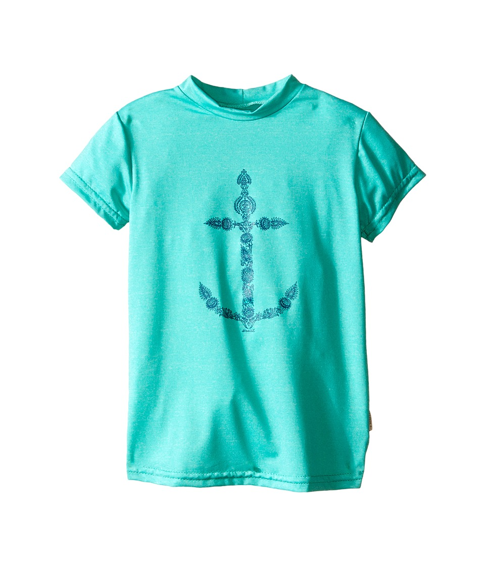 ONeill Kids 24 7 Hybrid Surf Tee Little Kids/Big Kids Seaglass Girls Swimwear