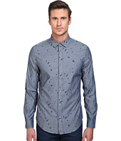 Original Penguin - Long Sleeve Space Jacquard Chambray Print
